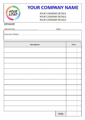 NCR Estimate Pads & Sets, 2 Column Lined